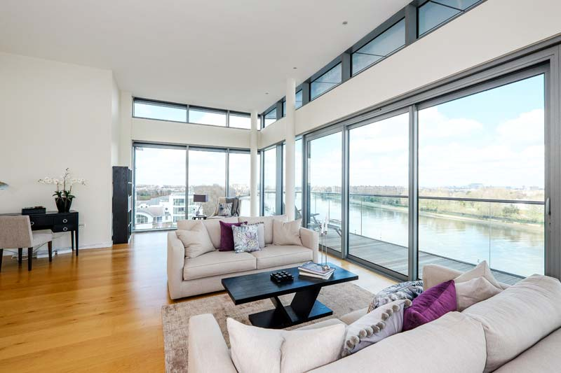 Penthouse Wandsworth River Views Lounge After
