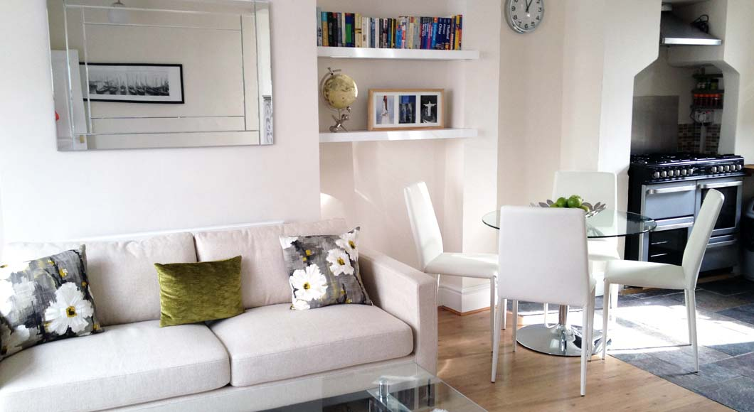 Kings Cross Lounge with Dining Area after Home Styling