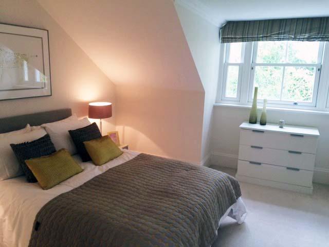 richmond bedroom in eaves window