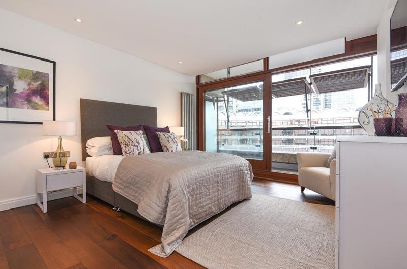Master bedroom Barbican DesRes London